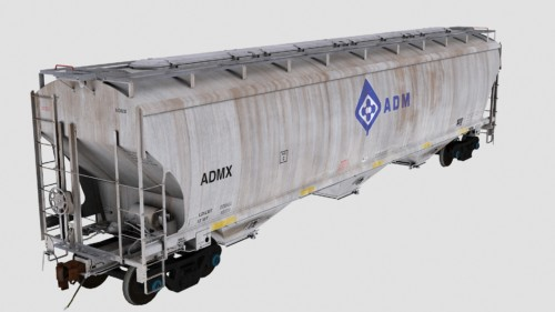ADMX Trinity 3-Bay 5461cf Covered Hopper