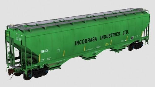 BRIX Trinity 5461cf 3-Bay Covered Hopper
