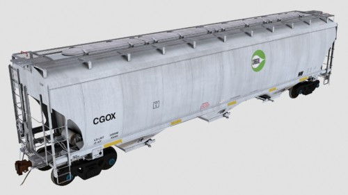 CGOX Trinity 3-Bay 5461cf Covered Hopper