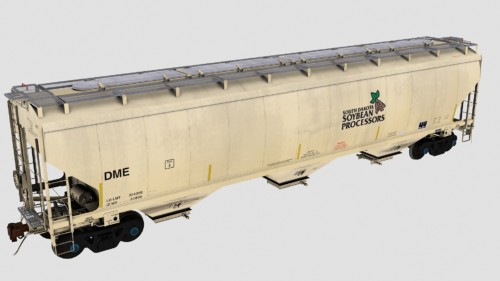 DME Trinity 5461cf 3-Bay Covered Hopper