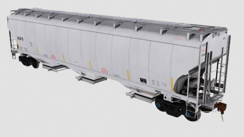 AGPX Trinity 3-Bay 5461cf Covered Hopper