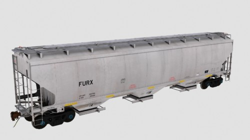 FURX Trinity 3-Bay 5461cf Covered Hopper