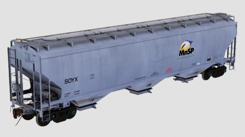 SOYX Trinity 3-Bay 5461cf Covered Hopper
