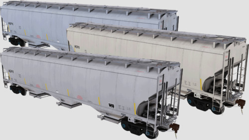 AGPX Trinity 3-Bay 5461cf Covered Hopper Pack