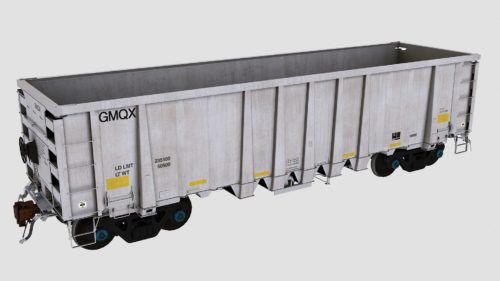 GMQX 1-105 National Steel Car 2500cf Aggregate Gondola