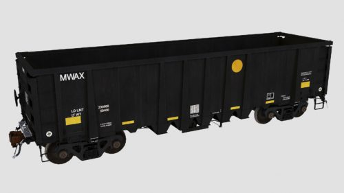 MWAX 3201-3335 National Steel Car 2500cf aggregate gondola