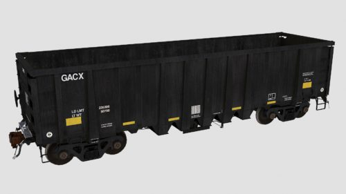 GACX 54970-55052 National Steel Car 2500cf aggregate gondola